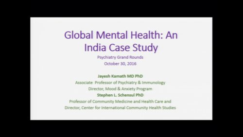 Global Mental Health: An India Case Study